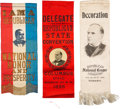 "Political:Ribbons & Badges, William McKinley: Three ""Better"" Portrait Ribbons.. ..."