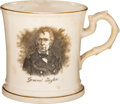 Political:3D & Other Display (pre-1896), Zachary Taylor: Campaign Soft Paste Mug.. ...