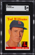 Baseball Cards:Singles (1950-1959), 1958 Topps Ted Williams #1 SGC EX 5....