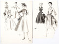 Original Comic Art:Illustrations, Butterick Printed Patterns Fashion Illustration Original ArtGroup of 10 (Butterick, c. 1950s).... (Total: 10 Original Art)