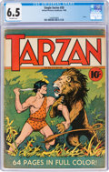 Golden Age (1938-1955):Adventure, Single Series #20 Tarzan (United Feature Syndicate, 1940) CGC FN+ 6.5 Off-white pages....