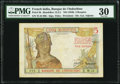 World Currency, French India Banque de l'Indochine 5 Roupies ND (1946) Pick 5b PMG Very Fine 30.. ...
