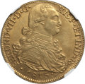 Colombia, Colombia: Ferdinand VII gold 8 Escudos 1815 NR-JF AU Details NGC,...