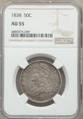 Reeded Edge Half Dollars, 1838 50C AU55 NGC. NGC Census: (168/539). PCGS Population: (186/403). AU55. Mintage 3,546,000. . From The Poulos Family...