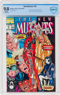 The New Mutants #98 Direct Edition (Marvel, 1991) CBCS NM/MT 9.8 White pages