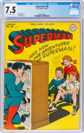 Golden Age (1938-1955):Superhero, Superman #39 (DC, 1946) CGC VF- 7.5 Cream to off-white pages....