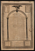 Political:Posters & Broadsides (pre-1896), George Washington [and Andrew Jackson]: Large U. S. Constitution Broadside Published in 1833.. ...