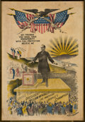 Political:Posters & Broadsides (1896-present), William McKinley: Glorious, Over-the-Top Campaign Banner. . ...