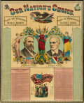 Political:Posters & Broadsides (pre-1896), Hayes & Wheeler: Large Jugate Campaign Chart in Superb Condition.. ...