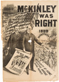"Political:Posters & Broadsides (1896-present), McKinley & Roosevelt: A Spectacular 33"" x 48"" Jugate Campaign Poster. . ..."