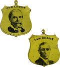 Political:Ribbons & Badges, Wilson & Hughes: Pair Of Campaign Tabs.. ... (Total: 2 Items)