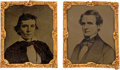 Political:Ferrotypes / Photo Badges (pre-1896), Jefferson Davis & Alexander Stephens: Pair of Tintypes by Abbott & Co. of New York.. ... (Total: 2 Items)