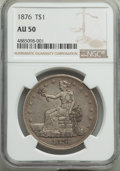 Trade Dollars, 1876 T$1 AU50 NGC. NGC Census: (12/398). PCGS Population: (22/535). AU50. Mintage 455,000. . From The Poulos Family Col...