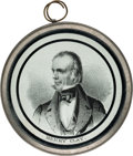 Political:Tokens & Medals, Henry Clay: 1844 Campaign Pewter Rim. . ...