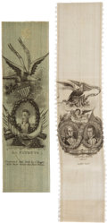Political:Ribbons & Badges, Marquis de Lafayette: Two Choice Silk Ribbons from His 1824 American Visit.. ... (Total: 2 Items)