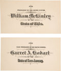 Political:Small Paper (1896-present), McKinley & Hobart: Rare Official Electoral College Ballot Cards.. ... (Total: 2 Items)