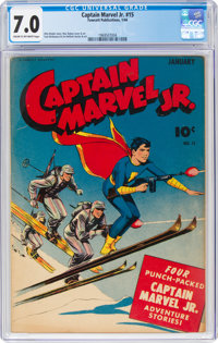 Captain Marvel Jr. #15 (Fawcett Publications, 1944) CGC FN/VF 7.0 Cream to off-white pages