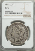 1890-CC $1 Fine 15 NGC. NGC Census: (115/6784). PCGS Population: (192/13010). CDN: $86 Whsle. Bid for problem-free NGC/P...