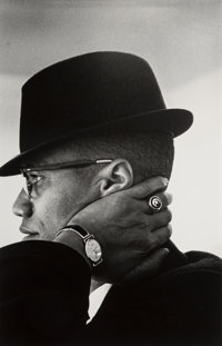 Eve Arnold (American, 1913-2012) Malcom X, Chicago, 1961 Gelatin silver, printed later 13-1/2 x 8