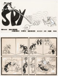 "Original Comic Art:Complete Story, Antonio Prohias MAD Magazine Complete 1-Page Story ""Spy vs. Spy"" Original Art (EC, c. 1960s)..."