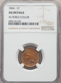 Indian Cents, 1866 1C -- Altered Color -- NGC Details. AU. NGC Census: (34/473). PCGS Population: (77/545). CDN: $200 Whsle. Bid for prob...