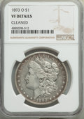 1893-O $1 -- Cleaned -- NGC Details. VF. NGC Census: (127/2842). PCGS Population: (214/4188). CDN: $275 Whsle. Bid for p...
