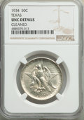 1934 50C Texas -- Cleaned -- NGC Details. Unc. NGC Census: (0/2587). PCGS Population: (1/4247). CDN: $115 Whsle. Bid for...