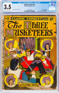 Golden Age (1938-1955):Classics Illustrated, Classic Comics #1 The Three Musketeers - First Edition (Gilberton, 1941) CGC VG- 3.5 Cream to off-white pages....