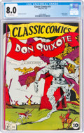 Golden Age (1938-1955):Classics Illustrated, Classic Comics #11 Don Quixote First Edition (Gilberton, 1943) CGC VF 8.0 Off-white pages....