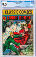 Golden Age (1938-1955):Classics Illustrated, Classic Comics #32 Lorna Doone - First Edition (Gilberton, 1946) CGC VF+ 8.5 Off-white pages....