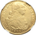 Colombia, Colombia: Ferdinand VII gold 8 Escudos 1815 NR-JF XF Details (Cleaned) NGC,...