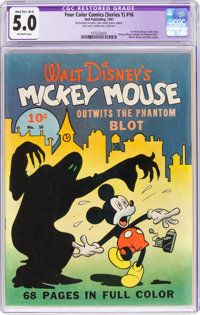 Four Color (Series One) #16 Mickey Mouse (Dell, 1941) CGC Apparent VG/FN 5.0 Mod./Ext. (B-4) Off-white pages