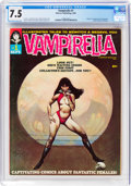 Magazines:Horror, Vampirella #1 (Warren, 1969) CGC VF- 7.5 Off-white to white pages....