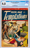 Golden Age (1938-1955):Crime, Teen-Age Temptations #8 (St. John, 1954) CGC VG 4.0 Cream to off-white pages....