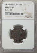 Half Cents, 1804 1/2 C Spiked Chin, C-6, B-6, R.2, -- Cleaned -- NGC Details. XF. PCGS Population: (2/19). XF40. ...