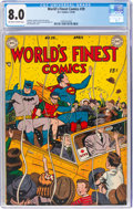 Golden Age (1938-1955):Superhero, World's Finest Comics #39 (DC, 1949) CGC VF 8.0 Off-white to white pages....