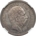 German States:Saxony, German States: Saxony. Albert 2 Mark 1877-E AU58 NGC,...
