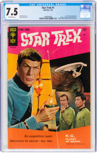 Star Trek #1 (Gold Key, 1967) CGC VF- 7.5 Off-white pages
