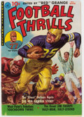 "Golden Age (1938-1955):Miscellaneous, Football Thrills #1 Davis Crippen (""D"" Copy) Pedigree (Ziff-Davis, 1951) Condition: VF-...."