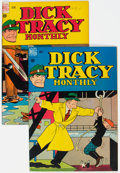 """Golden Age (1938-1955):Crime, Dick Tracy Monthly #5 and 6 Davis Crippen (""""D"""" Copy) Pedigree Group (Dell, 1948) Condition: Average FN-.... (Total: 2 Comic Books)"""