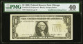 Error Notes:Missing Third Printing, Insufficient Inking of Third Printing Error Fr. 1913-G $1 1985 Federal Reserve Note. PMG Extremely Fine 40.. ...