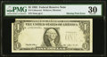 Error Notes:Missing Third Printing, Missing Third Printing Error Fr. 1919-A $1 1993 Federal Reserve Note. PMG Very Fine 30.. ...