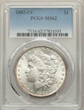 1882-CC $1 MS62 PCGS. PCGS Population: (3035/30869). NGC Census: (1957/15598). CDN: $210 Whsle. Bid for problem-free NGC...