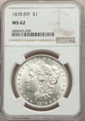 Morgan Dollars: , 1878 8TF $1 MS62 NGC. NGC Census: (2277/6074). PCGS Population: (3018/9310). CDN: $195 Whsle. Bid for problem-free NGC/PCGS...