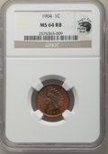 Indian Cents, 1904 1C MS64 Red and Brown NGC. Eagle Eye Photo Seal, card included. NGC Census: (363/146). PCGS Population: (695/111). CDN...