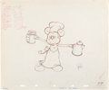 Animation Art:Production Drawing, Mickey's Trailer Mickey Mouse Animat...