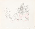Animation Art:Production Drawing, Society Dog Show Mickey and ...