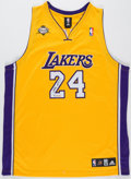 Autographs:Jerseys, Kobe Bryant Signed Limited Edition Los Angeles Lakers Jersey, Upper Deck Authenticated....