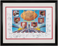 Autographs:Others, 1986 New York Giants Multi-Signed Lithograph (46 Signatures)....