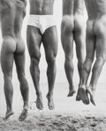 Photographs:Gelatin Silver, Herb Ritts (American, 1952-2002). Jump, Paradise Cove, 1987. Gelatin silver, printed later. 16-5/8 x 15-1/8 inches (42.2...